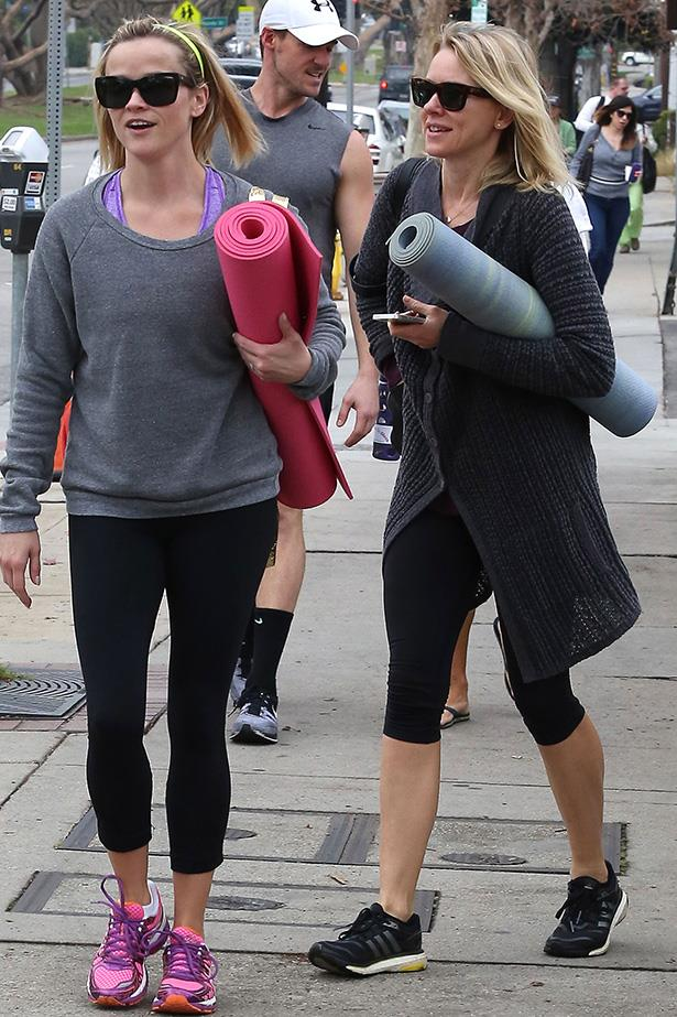 Award-winning actresses and busy mums Reese Witherspoon and Naomi Watts are probably the closest workout buddies of them all. These amazing ladies are continuously snapped in LA enjoying yoga classes and high-energy jogs. Help, we're beginning to develop best friend envy. Friendvy.