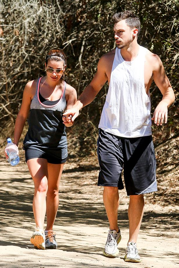 Lea Michele and Matthew Paetz love their hikes in the LA hills.