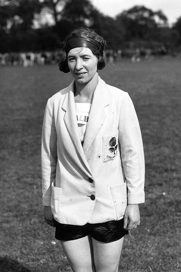 <strong>1930</strong> <br>By the '30s, shorts were finally deemed 'appropriate' for women to rock. Here's British long jumper Muriel Cornell in a stylish combination of boxy team blazer and loose-fitting shorts. Oh and the headband we like too.