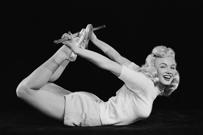 <strong>1948</strong> <br>Yoga grows in popularity and with Marilyn Monroe at the helm, so do exercise sweaters.