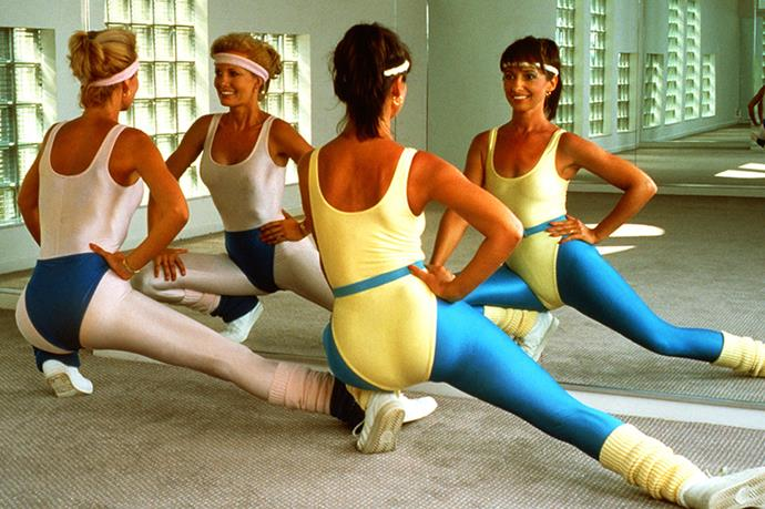 1980 <br>Perhaps the most iconic fitness wear decade of all time (because those colours, sky-high wedgies and lycra have a way of burning themselves into our retinas) is the '80s aerobic aesthetic. A spruced-up Jane Fonda sashays onto the fitness scene.