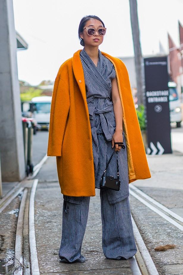Margaret Zhang wearing Strateas Carlucci, Marimekko Australia and Pared Eyewear.