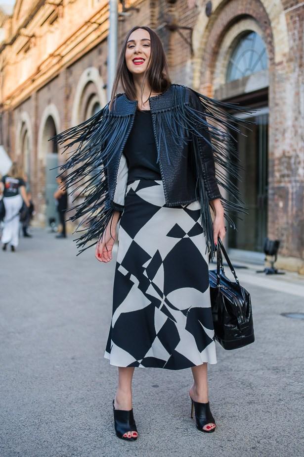Marina De Giovanni wearing Malene Birger.
