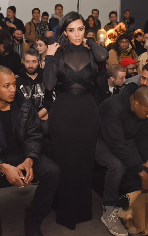 <strong>FEBRUARY 14, 2015</strong> <BR> In Alexander Wang during New York Fashion Week.