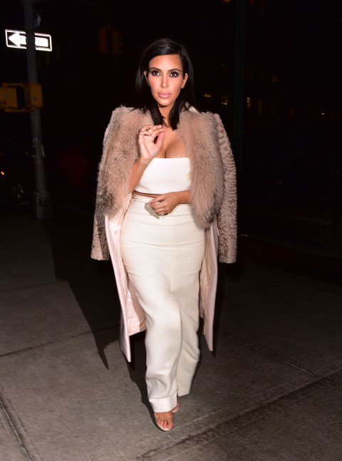 <strong>FEBRUARY 10, 2015</strong> <BR> In a Givenchy coat, Calvin Klein top and skirt, and Manolo Blahnik heels while out in New York.