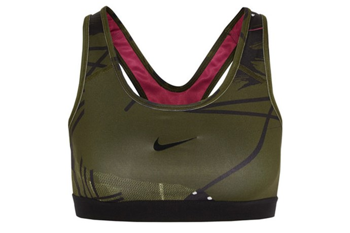 "Sports Bra, $115, Nike + Johanna F. Schnieder, <a href=""http://www.net-a-porter.com/product/523906/Nike/-johanna-f-schneider-dri-fit-stretch-jersey-sports-bra"">net-a-porter.com</a>"