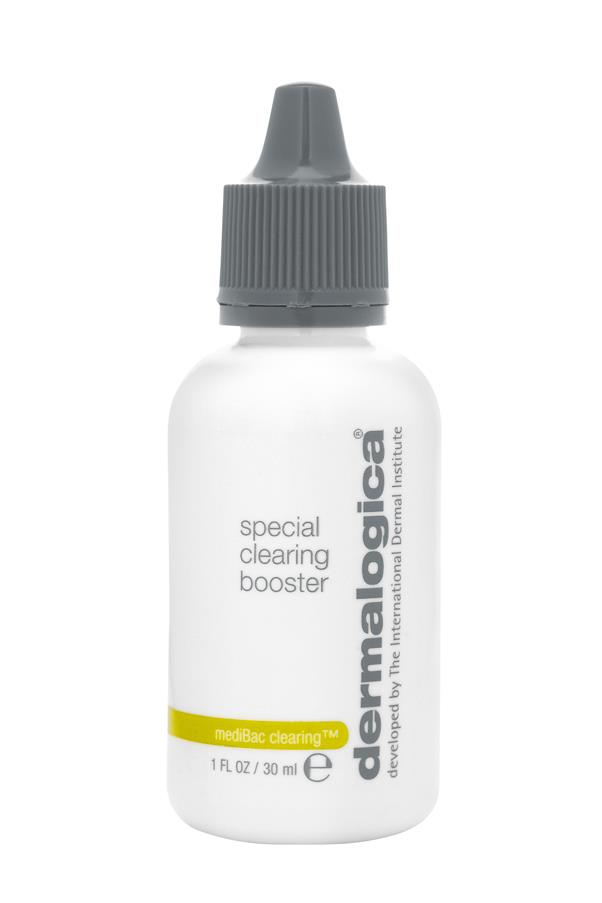 "<p><strong>B = Benzoyl peroxide</strong></p> <p>Found in some over-the-counter acne medications, benzoyl peroxide exfoliates pores and kills acne-causing bacteria. </p> <p><em>MediBac Special Clearing Booster, $66.50, Dermalogica, <a href=""http://www.dermalogica.com.au/"">dermalogica.com.au </a></em></p>"