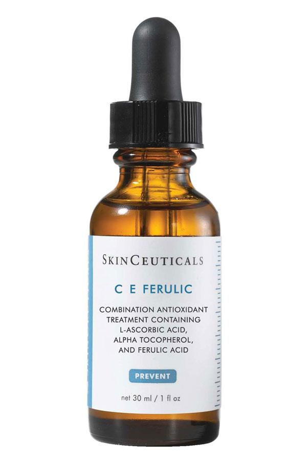 "<p><strong>F = Ferulic acid</strong></p> <p>Ferulic acid is an antioxidant derived from plants. It helps stabilise vitamin C and E in skincare products, while also protecting against free radicals. </p> <p><em>C E Ferulic, $214, SkinCeuticals, <a href=""http://www.advancedcosmeceuticals.com.au/ "">advancedcosmeceuticals.com.au</a> </em></p>"