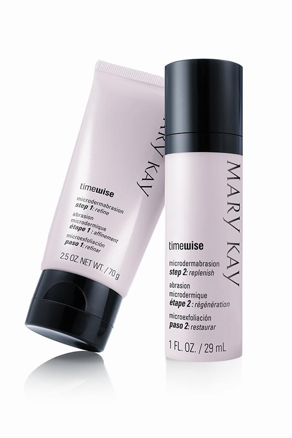 "<p><strong>M = Microdermabrasion</strong></p> <p>Microdermabrasion is when tiny crystals are sprayed onto skin for targeted exfoliation. It can also help improve skin's texture and radiance. </p> <p><em>TimeWise Microdermabrasion Set, $66, Mary Kay, <a href=""http://www.marykay.com.au/ "">marykay.com.au</a> </em></p>"