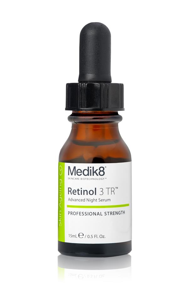 "<p><strong>R = Retinol</strong></p> <p>Retinol (also known as vitamin A) can help with skin turnover by instructing cells to create healthier – rather than damaged or aged – cells. Stronger doses are available by prescription. </p> <p><em>Retinol 3 TR, $75, Medik8, <a href=""http://www.medik8.com.au/ "">medik8.com.au</a> </em></p>"
