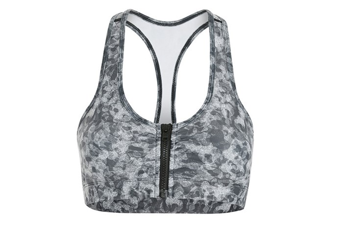 "Sports bra, $70, Vie Active, <a href=""http://www.stylerunner.com/shop/product/V4LOR4UW-urbanwarrior/lori-20-zippered-sports-bra-urban-warrior.html"">stylerunner.com</a>"
