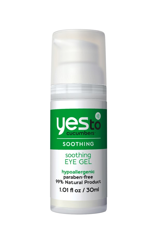<p>This eye gel contains a triple threat of organic cucumber, aloe and spirulina to make a cooling, lightweight formula that reduces puffiness.</p> <p><em>Soothing Eye Gel, $23.95, Yes to Cucumbers, 1800 791 381</em></p>