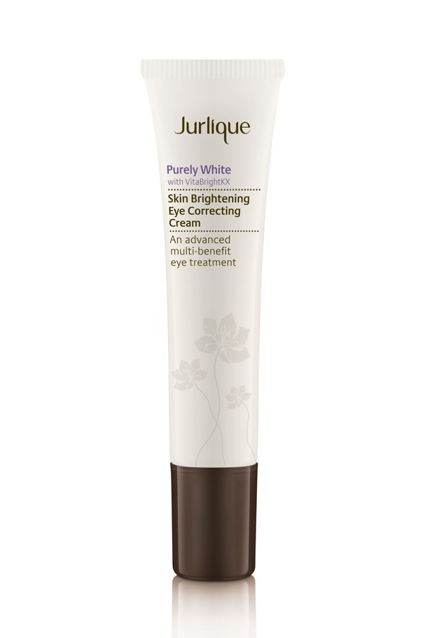 "<p>Formulated to brighten the eye area, this cream features VitaBrightKX that also protects the delicate skin around the eyes.</p> <p><em>Purely White Skin Brightening Eye Correcting Cream, $55, Jurlique, <a href=""http://www.jurlique.com.au/"">jurlique.com.au</a></em></p>"