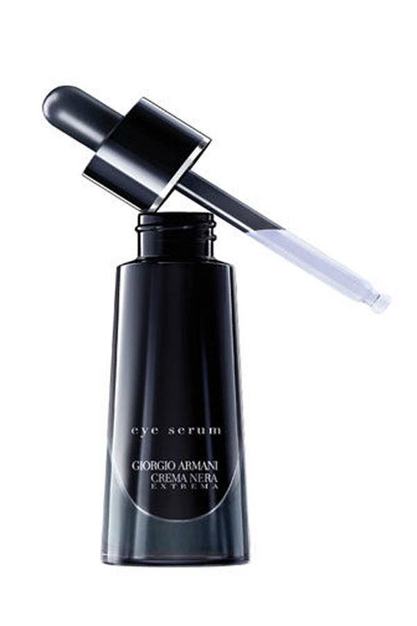 <p>A cleverly designed dropper means you'll always get the right amount of product, while the lightweight serum nourishes the eye area with Nopal flower extract.</p> <p><em>Crema Nera Extrema Eye Serum, $175, Giorgio Armani, 1300 651 991</em></p>