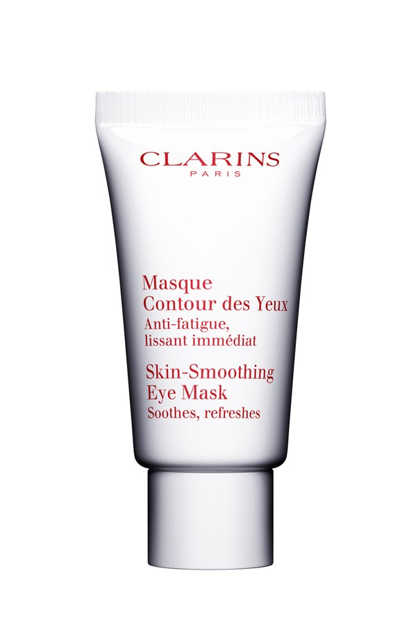 <p>Designed to be left on overnight, or applied throughout the day as needed, this mask is specific to the eye area. The fragrance-free cream immediately soothes skin and refreshes tired eyes, and works over time to smooth skin.</p> <p><em>Skin-Smoothing Eye Mask, $50, Clarins, (02) 9663 4277</em></p>