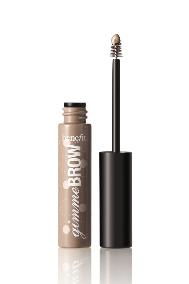 """<p><strong>Fill in brows.</strong></p> <p>The top of your head isn't the only place that experiences thinning with age—your brows can become sparse as well. Fill them in with a fibre formula. It will deposit tiny hair-like fibres, which will stick to brows and instantly fake fullness. </p> <p><em>Gimme Brow in Light/Medium, $32, Benefit, <a href=""""http://www.myer.com.au/shop/mystore/beauty/featured-brands-benefit"""">myer.com.au/benefit</a></em></p>"""