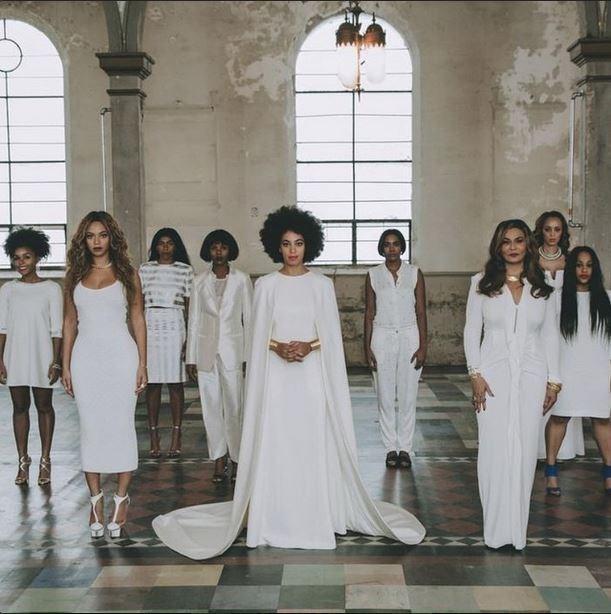 Although Solange didn't <em>officially</em> have a bridal party - we're still including Beyonce for the sake of well, Beyonce. Queen Bey played it simple with a $350 dress from Torn by Ronny Kobo at the nuptials last November.
