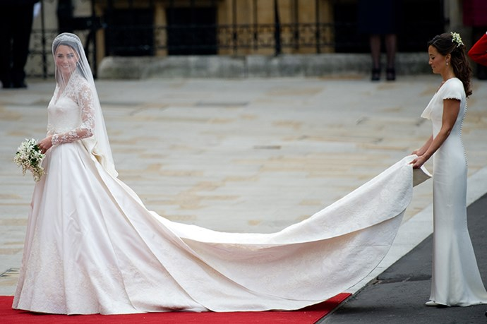 Pippa Middleton was catapulted to fame after wearing <em>that </em> bridesmaid dress at sister Kate's royal 2011 wedding. The dress, like the Duchess of Cambridge, was designed by Sarah Burton for Alexander McQueen.