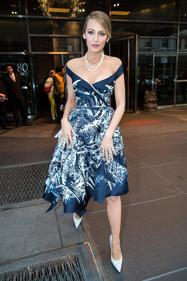 <strong>Look 8:</strong> <em>4:45pm</em> Arriving to film The Tonight Show Starring Jimmy Fallon<br> Zuhair Murad dress