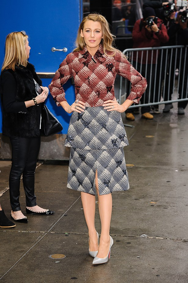 <strong>Look 1:</strong> <em>7:55am</em> Arrival at the Good Morning America studios<br> Marc Jacobs Fall 2015