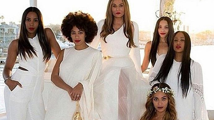 Tina Knowles' wedding shot