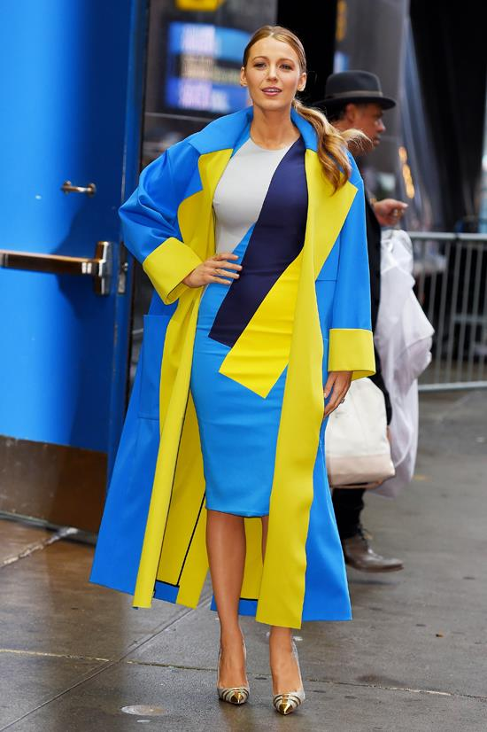 "Blake Lively wearing Roksanda at her guest appearance for ""Good Morning America"", April 2015"