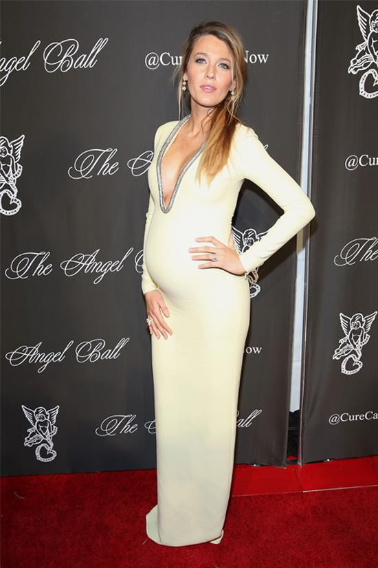Blake Lively wearing Gucci at the Angel Ball, October 2014