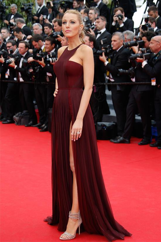 "Blake Lively wearing Gucci Première at the premiere of ""Grace of Monaco"" at the Cannes Film Festival, May 2014"