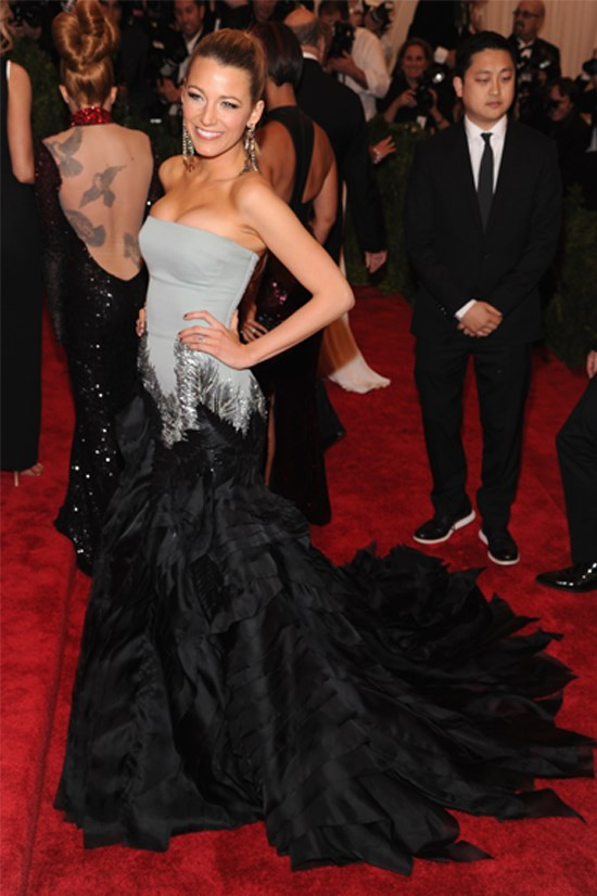 Blake Lively wearing Gucci Première at the 2013 Met Gala