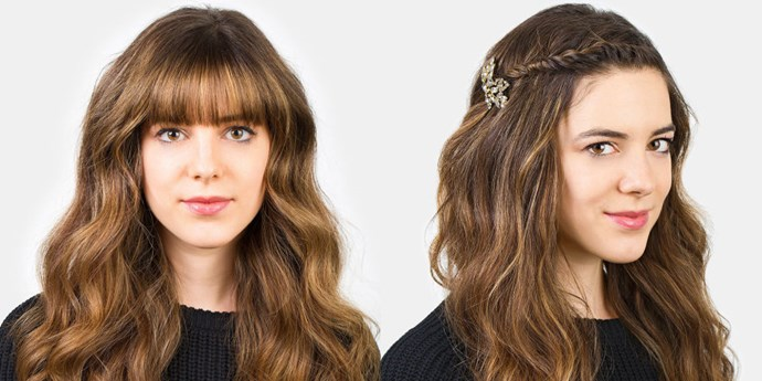 <strong>MINI FRENCH TWIST </strong> <br>This French braid mash-up is the trickiest of the bunch, but taking the time to tuck in all that hair means that it'll stay put. <br><br><strong>What you need: </strong> <br>Comb <br>Bobby pins <br>Hair jewellery of choice <em><br><br>Pictured: Jennifer Behr Primrose Bobby Pin, jenniferbehr.com</em>