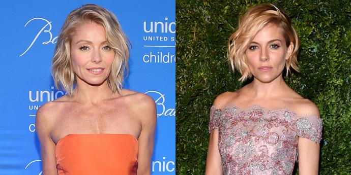 Kelly Ripa and Sienna Miller.