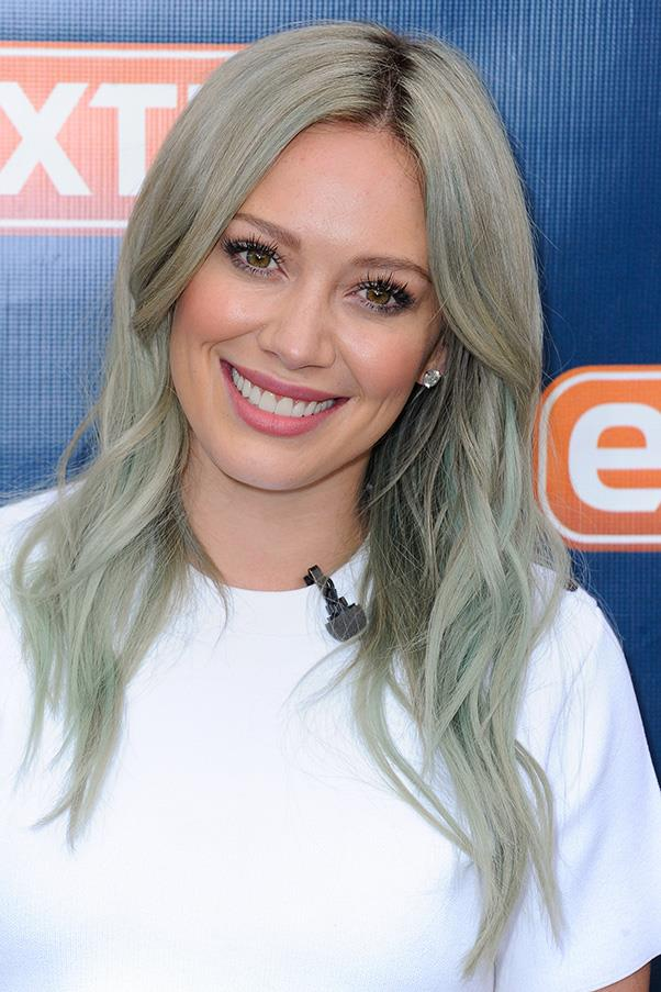 """<strong>Hilary Duff</strong> <br>While you'd think that this perpetually smiley and naturally radiant star would have no issues getting a lil' love, Hilary is the latest celebrity to reveal she's on Tinder. <br><br>But is it just another novelty to go with her out-there hair colour? Turns out she's 100% serious. She fessed to an LA radio show that she finds swiping through the app """"wildly exhilarating"""" and she's having a blast playing the field and is chatting to """"nine guys right now."""" <br><br>While we're not sure how this is possible (but props on the guys for being blissfully uninformed about Tinseltown), Hils believes these matches aren't aware she's famous."""