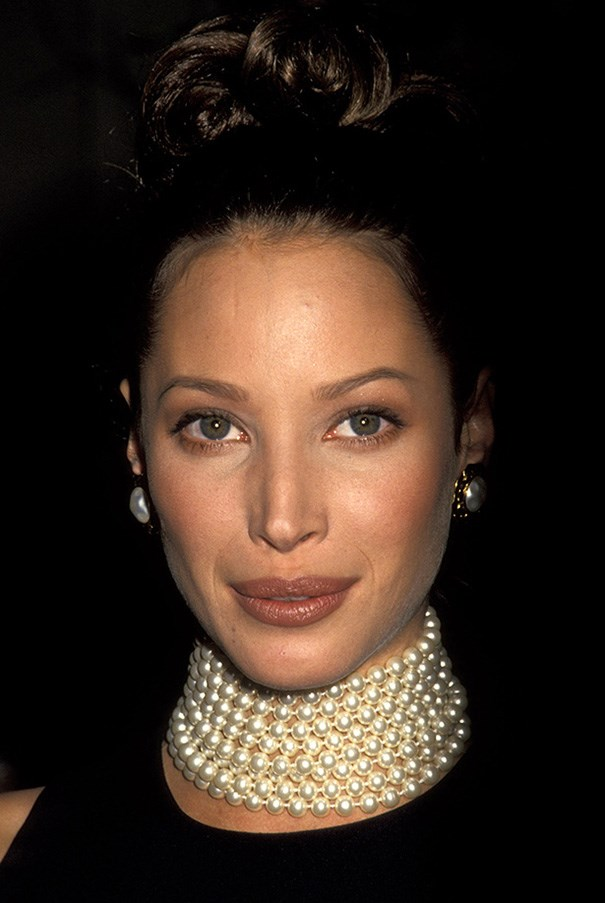 Christy Turlington at the Met Gala in 1992