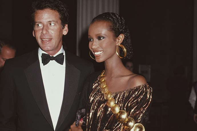 <strong>1981</strong <em><br>'The 18th Century Woman'</em> <br>Calvin Klein and Iman