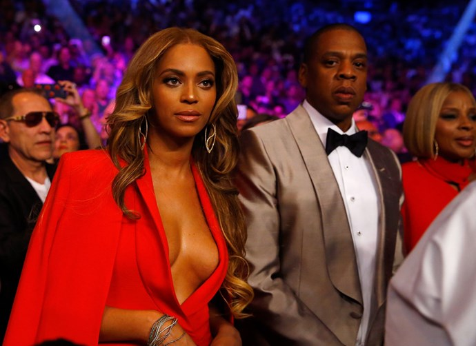 Jay Z, Beyonce, Diane Kruger, Claire Danes, Mark Wahlberg and more celebrities turn up for Floyd Mayweather-Manny Pacquiao fight.