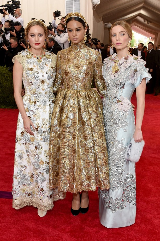 Brie Larson, Courtney Eaton and Annabelle Wallis in Dolce & Gabbana