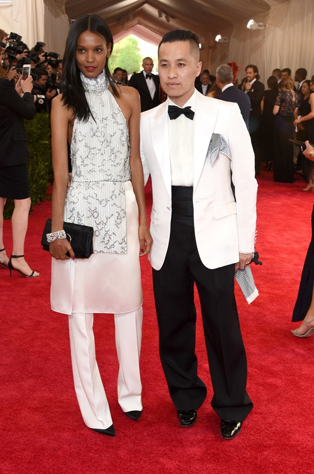 Liya Kebede in 3.1 Phillip Lim with Philip Lim