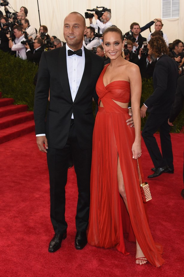 Derek Jeter with Hannah Davis in J. Mendel