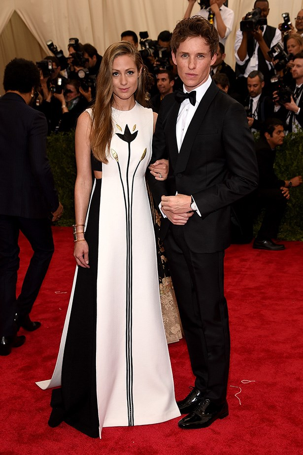 Hannah Bagshawe in Valentino and Eddie Redmayne