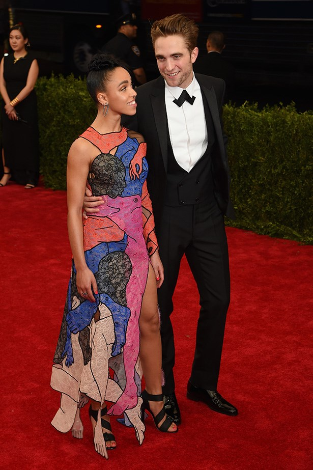 FKA Twigs in Christopher Kane with Robert Pattinson
