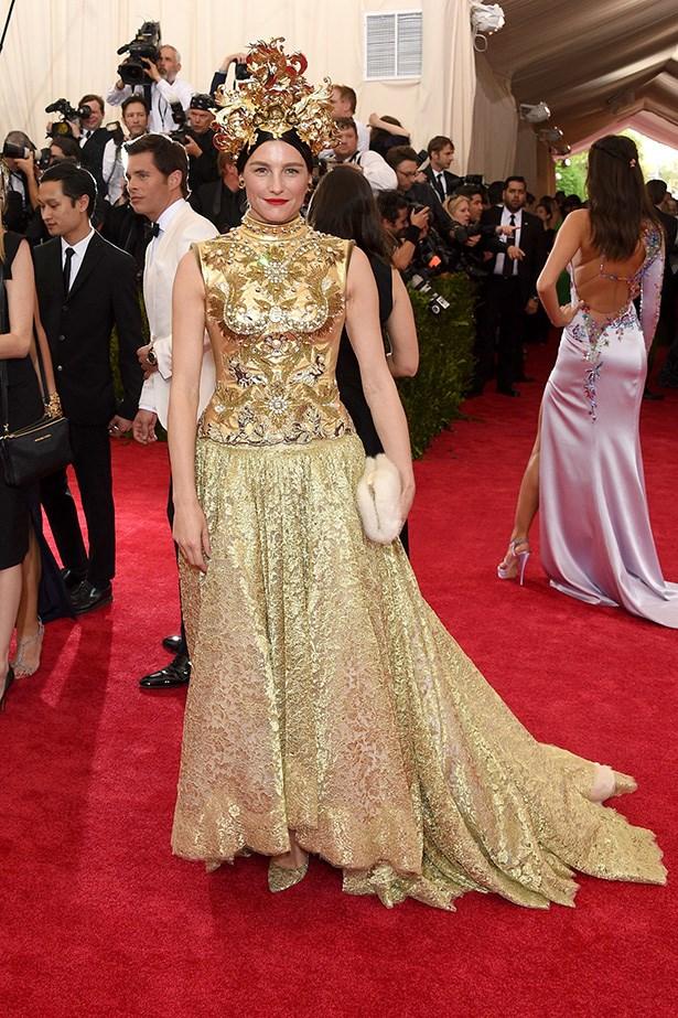 Tabitha Simmons in Dolce & Gabbana