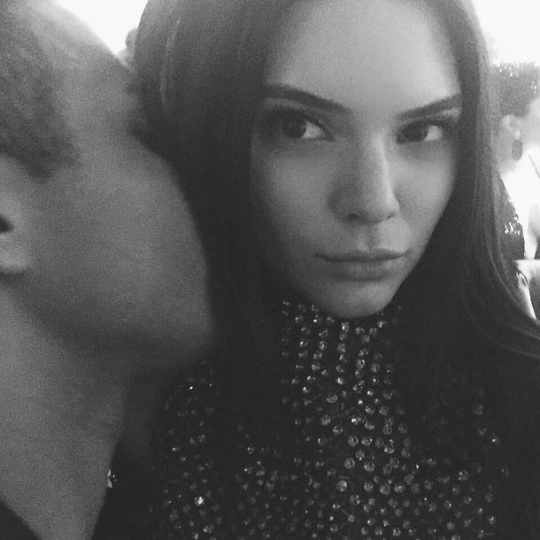"""Oliver Rousteing and Kendall Jenner<br><br> """"secrets? @olivier_rousteing"""" - @kendalljenner"""
