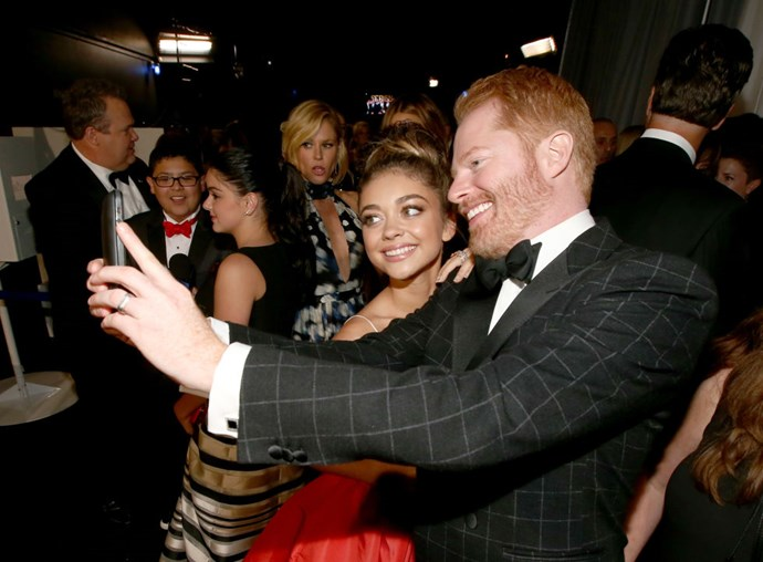 <strong>SARAH HYLAND AND JESSE TYLER FERGUSON</strong>