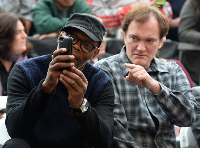 <strong>SAMUEL L. JACKSON AND QUENTIN TARANTINO</strong>