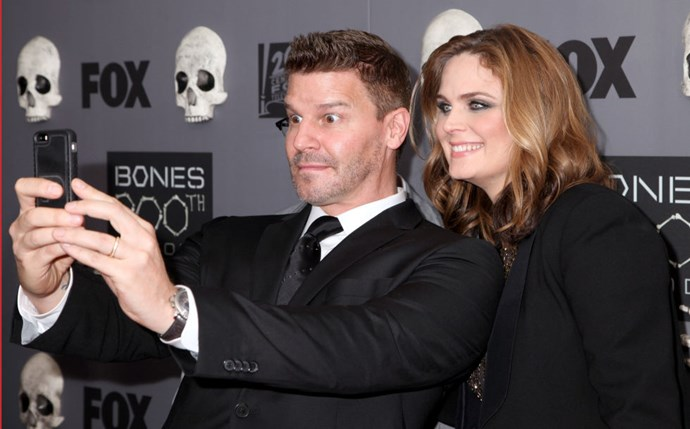 <strong>DAVID BOREANAZ AND EMILY DESCHANEL</strong>