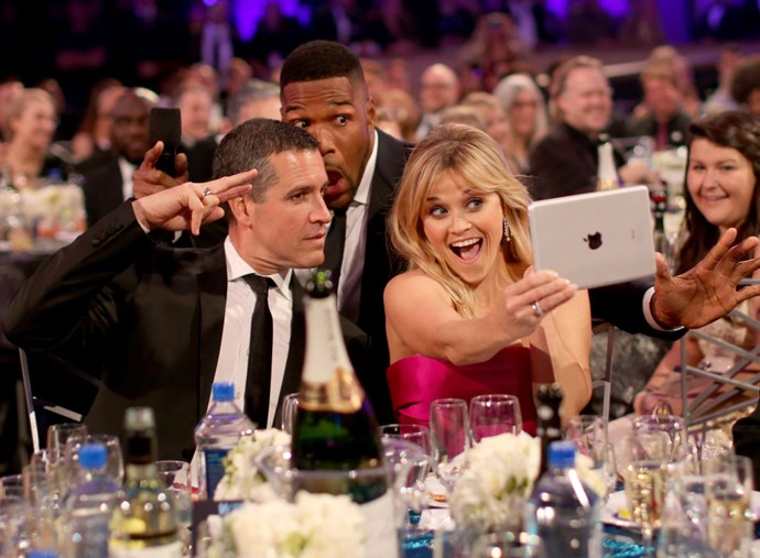 <strong>JIM TOTH, MICHAEL STRAHAN, AND REESE WITHERSPOON</strong>
