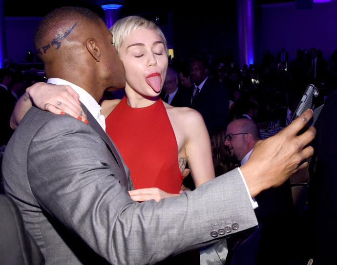 <strong>JAMIE FOXX AND MILEY CYRUS</strong>