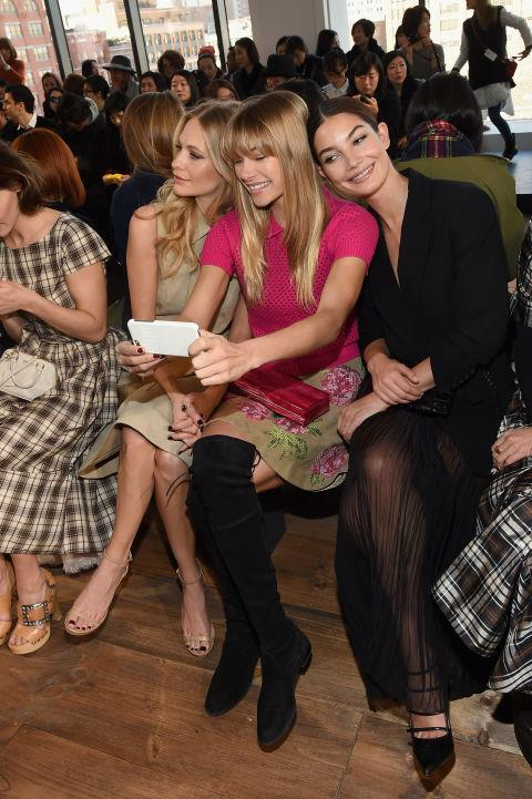 <strong>POPPY DELEVINGNE, JESSICA HAR, AND LILY ALDRIDGE</strong>