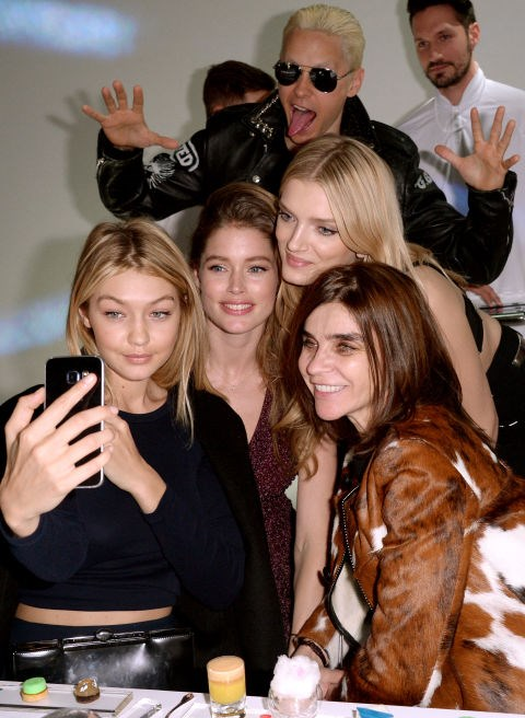 <strong>GIGI HADID, DOUTZEN KROES, LILY DONALDSON, JARED LETO, AND CARINE ROITFELD</strong>
