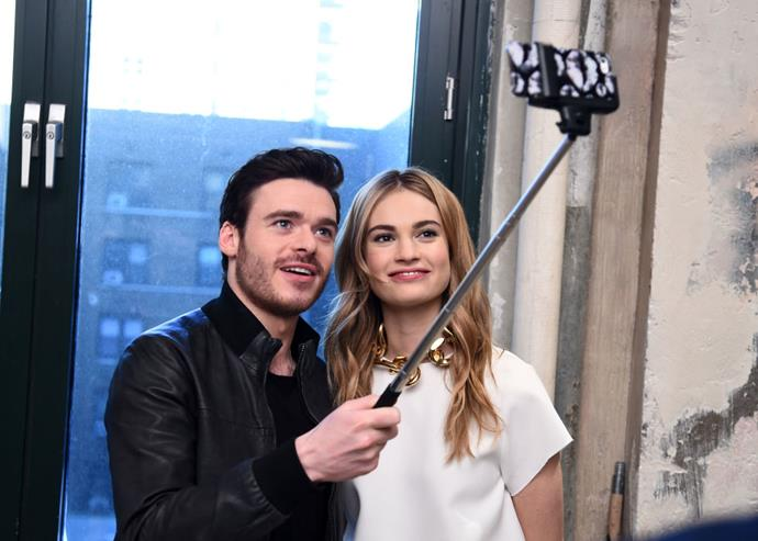 <strong>RICHARD MADDEN AND LILY JAMES</strong>